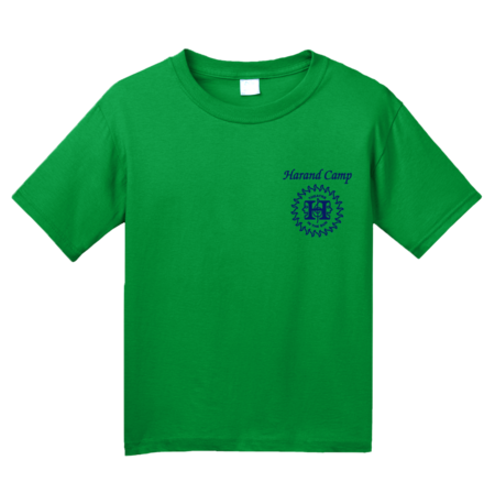Harand Theatre Camp - Sun Logo Left Chest Royal Print Youth Green Blank with Depth