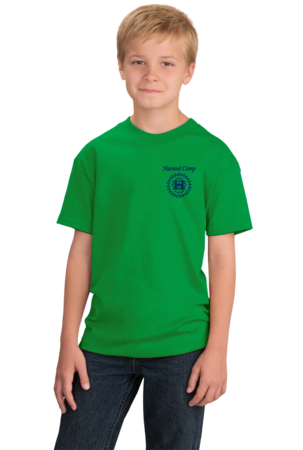 Harand Theatre Camp - Sun Logo Left Chest Royal Print Youth Green Stock Model Front 1