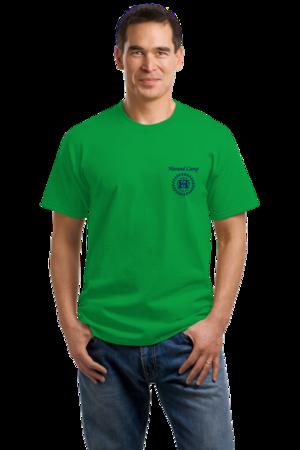 Harand Theatre Camp - Sun Logo Left Chest Royal Print Unisex Green Stock Model Front 1