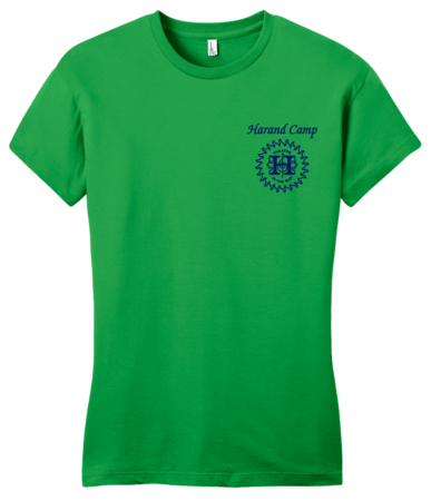 Harand Theatre Camp - Sun Logo Left Chest Royal Print Girly Green Blank with Depth