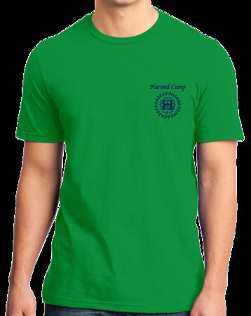 Harand Theatre Camp - Sun Logo Left Chest Royal Print Standard Green Stock Model Front 1 Thumb