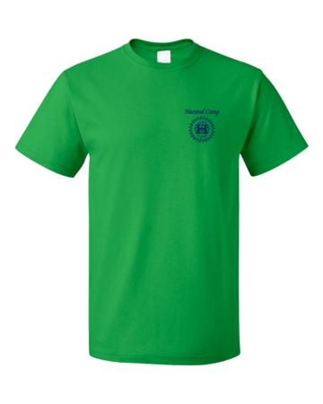 Harand Theatre Camp - Sun Logo Left Chest Royal Print Unisex Green Blank with Depth