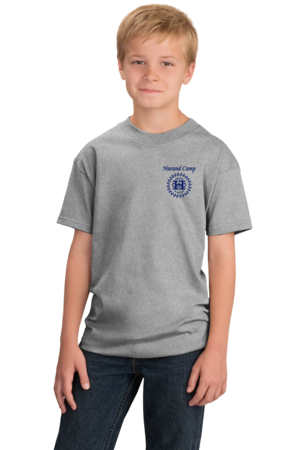 Harand Theatre Camp - Sun Logo Left Chest Royal Print Youth Grey Stock Model Front 1