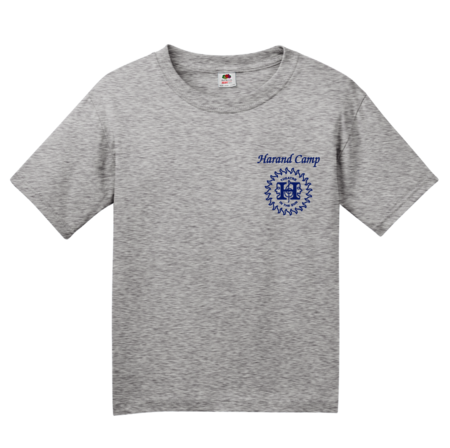 Harand Theatre Camp - Sun Logo Left Chest Royal Print Youth Grey Blank with Depth