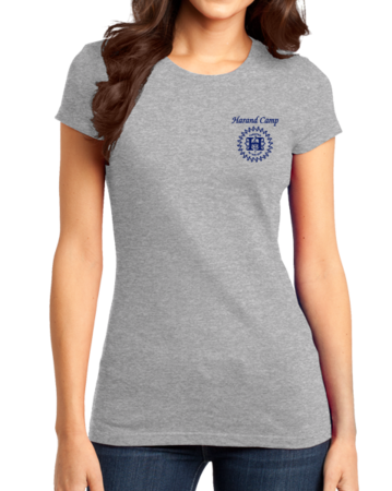 Harand Theatre Camp - Sun Logo Left Chest Royal Print Girly Grey Stock Model Front 1 Thumb