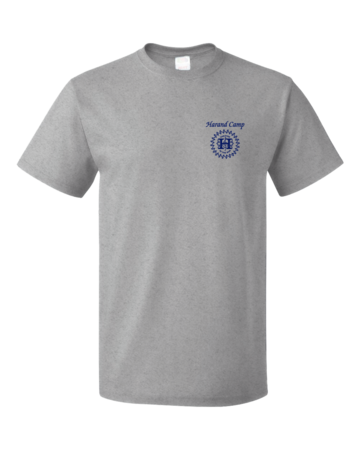 Harand Theatre Camp - Sun Logo Left Chest Royal Print Unisex Grey Blank with Depth