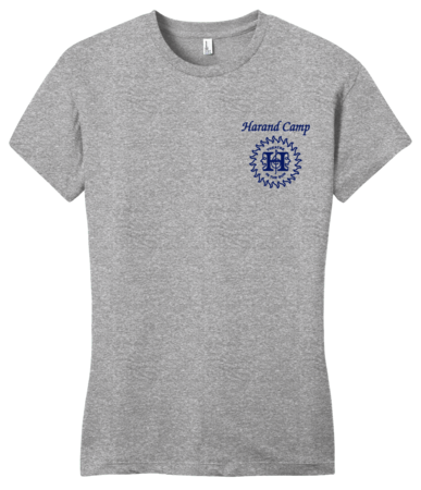 Harand Theatre Camp - Sun Logo Left Chest Royal Print Girly Grey Blank with Depth