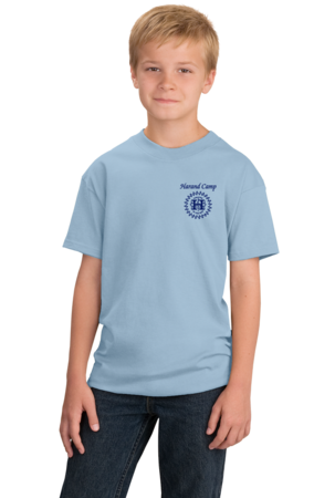 Harand Theatre Camp - Sun Logo Left Chest Royal Print Youth Light blue Stock Model Front 1