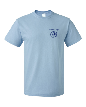 Harand Theatre Camp - Sun Logo Left Chest Royal Print Unisex Light blue Blank with Depth