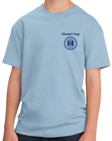 Harand Theatre Camp - Sun Logo Left Chest Royal Print Youth Light blue Stock Model Front 1 Thumb