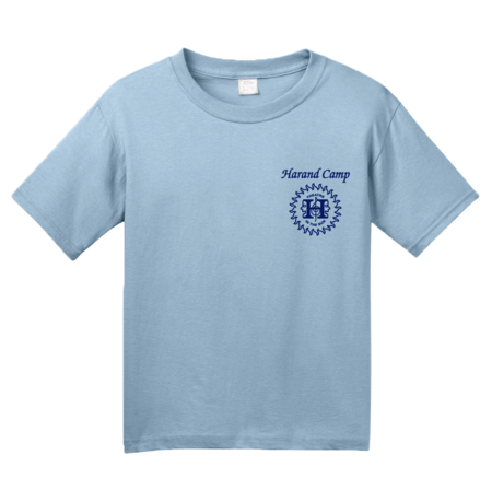 Harand Theatre Camp - Sun Logo Left Chest Royal Print Youth Light blue Blank with Depth