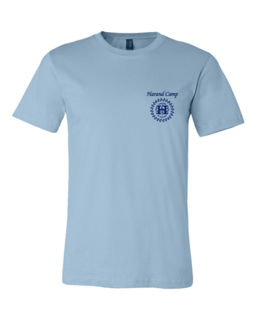 Harand Theatre Camp - Sun Logo Left Chest Royal Print Standard Light blue Blank with Depth