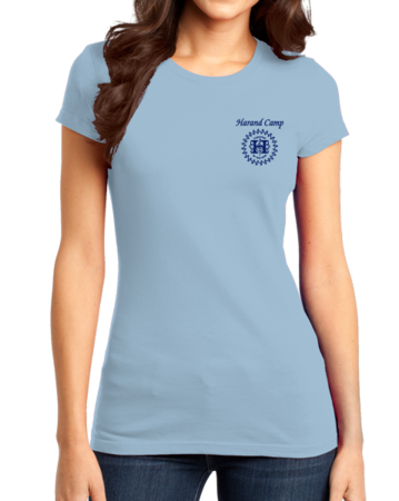 Harand Theatre Camp - Sun Logo Left Chest Royal Print Girly Light blue Stock Model Front 1 Thumb