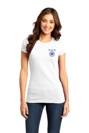 Harand Theatre Camp - Sun Logo Left Chest Royal Print Girly White Stock Model Front 1