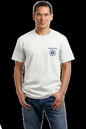 Harand Theatre Camp - Sun Logo Left Chest Royal Print Unisex White Stock Model Front 1