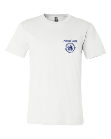 Harand Theatre Camp - Sun Logo Left Chest Royal Print Standard White Blank with Depth