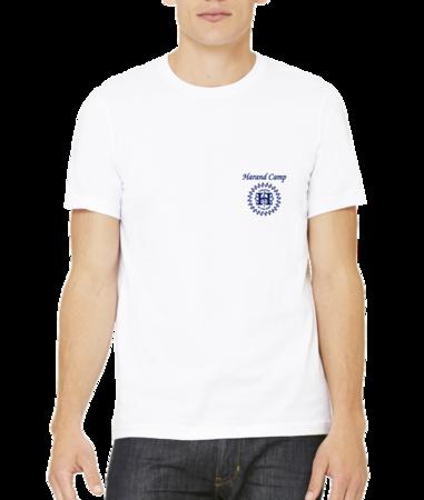 Harand Theatre Camp - Sun Logo Left Chest Royal Print Standard White Stock Model Front 1 Thumb