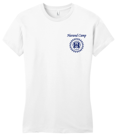 Harand Theatre Camp - Sun Logo Left Chest Royal Print Girly White Blank with Depth