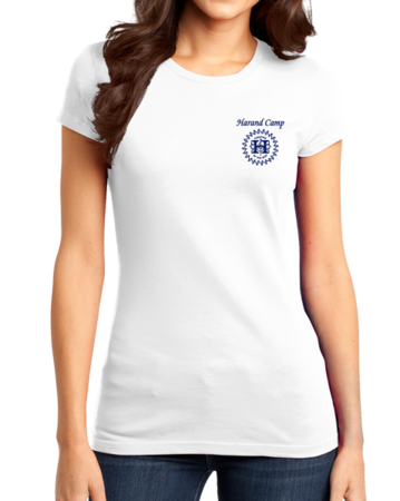 Harand Theatre Camp - Sun Logo Left Chest Royal Print Girly White Stock Model Front 1 Thumb