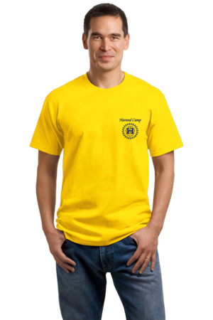 Harand Theatre Camp - Sun Logo Left Chest Royal Print Unisex Yellow Stock Model Front 1