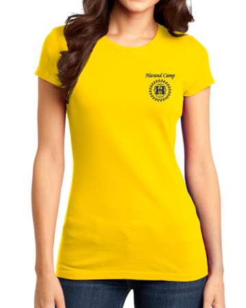 Harand Theatre Camp - Sun Logo Left Chest Royal Print Girly Yellow Stock Model Front 1 Thumb