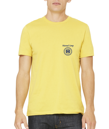 Harand Theatre Camp - Sun Logo Left Chest Royal Print Standard Yellow Stock Model Front 1 Thumb