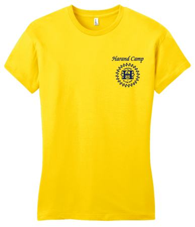 Harand Theatre Camp - Sun Logo Left Chest Royal Print Girly Yellow Blank with Depth