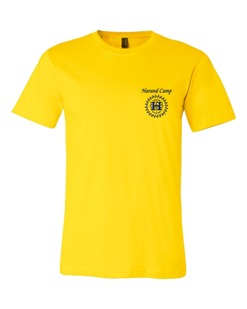 Harand Theatre Camp - Sun Logo Left Chest Royal Print Standard Yellow Blank with Depth