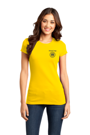 Harand Theatre Camp - Sun Logo Left Chest Royal Print Girly Yellow Stock Model Front 1
