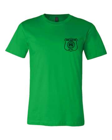 Harand Theatre Camp - Left Chest Navy Shield Logo Standard Green Blank with Depth