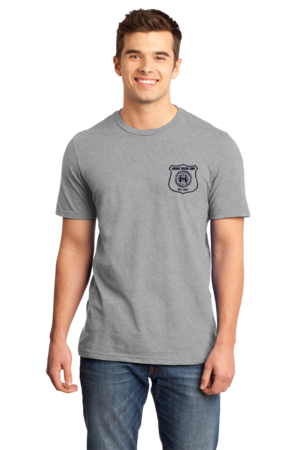 Harand Theatre Camp - Left Chest Navy Shield Logo Standard Grey Stock Model Front 1