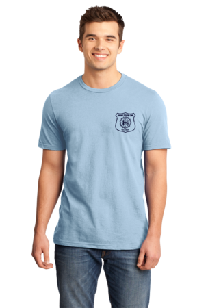 Harand Theatre Camp - Left Chest Navy Shield Logo Standard Light blue Stock Model Front 1