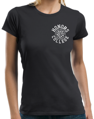 White Ink Honors Logo, Left Chest T-shirt