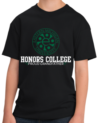 Proud Grandfather, Green and White Honors Winged T-shirt