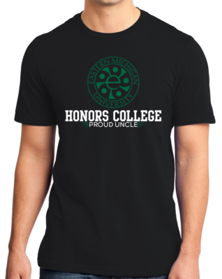 Proud Uncle, Green And White Honors Winged T-shirt