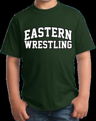 Eastern Wrestling Arched, Black Outline Design T-shirt
