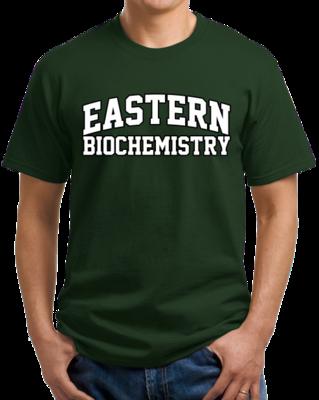 Eastern Biochemistry Arched, Black Outline Design T-shirt