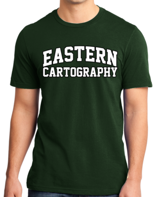 Eastern Cartography Arched, Black Outline Design T-shirt