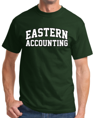 Eastern Accounting Arched, Black Outline Design T-shirt