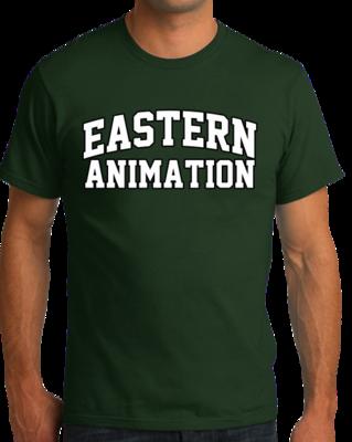 Eastern Animation Arched, Black Outline Design T-shirt