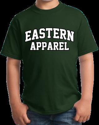 Eastern Apparel Arched, Black Outline Design T-shirt