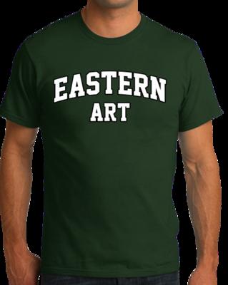 Eastern Art Arched, Black Outline Design T-shirt