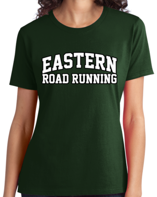 Eastern Road Running Arched, Black Outline Design T-shirt