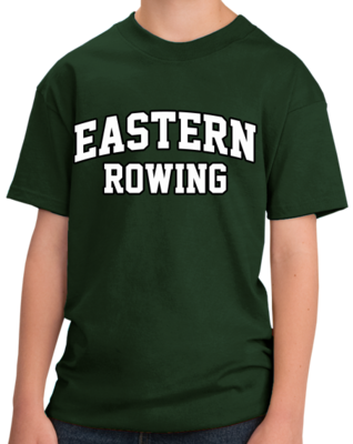 Eastern Rowing Arched, Black Outline Design T-shirt