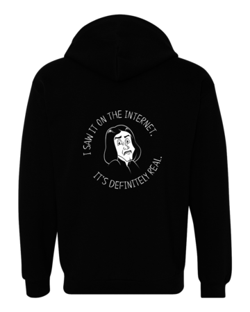 Potion Master's Corner Saw It On The Internet Zip Hoodie Black Blank with Depth