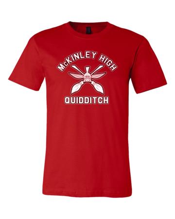 McKinley High Quidditch Standard Red Blank with Depth
