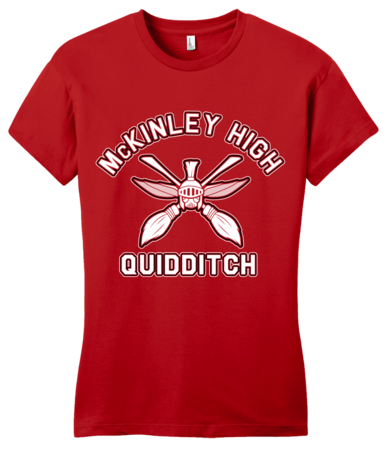 McKinley High Quidditch Girly Red Blank with Depth