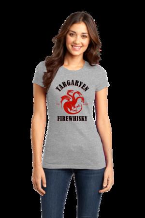 Targaryen Firewhisky Girly Grey Stock Model Front 1