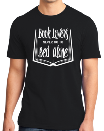 Book Lovers Never Go To Bed Alone Standard Black Stock Model Front 1 Thumb