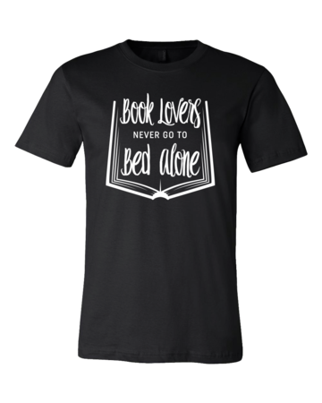 Book Lovers Never Go To Bed Alone Standard Black Blank with Depth